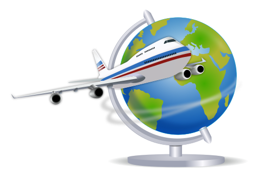 512px-Airplane-globe.svg