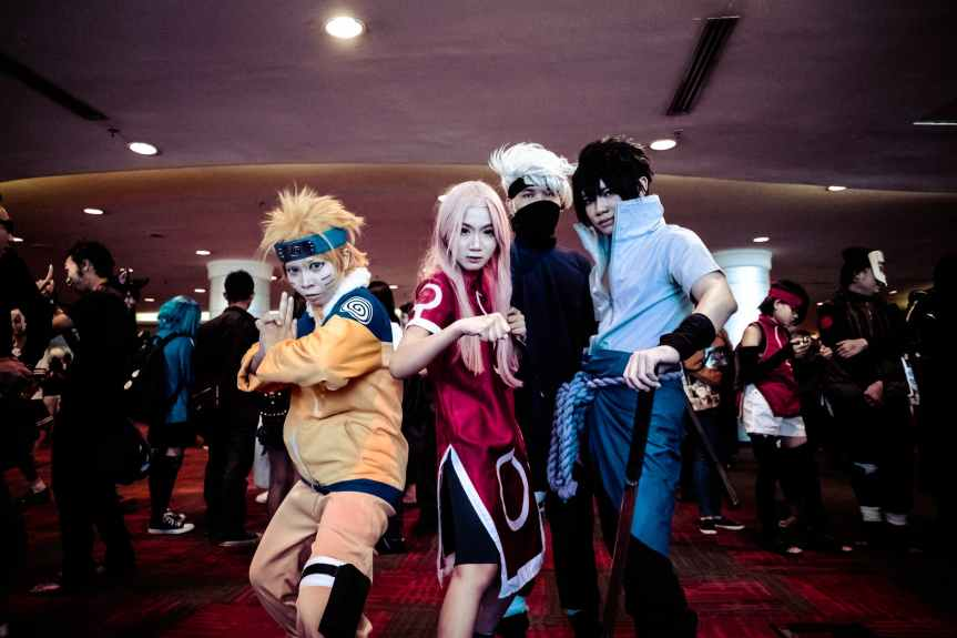 celebration cosplay costumes crowd